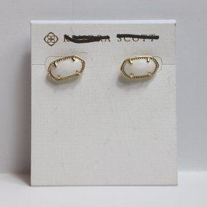 Kendra Scott Ellie Earrings, Gold/White Studs